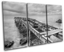 Abandoned Pier Sunset Seascape - 13-0375(00B)-TR32-LO